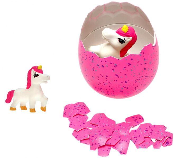 Mikro hračky Jednorožec líhnoucí a rostoucí ve vajíčku MEGA 20cm,růžová
