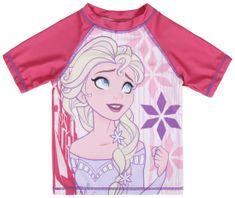 Disney dievčenské plavecké tričko Frozen 98 ružové