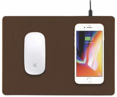 miniBatt PowerPad - Qi bezdrôtová nabíjacia podložka pod myš - hnedá, MB-PADBW