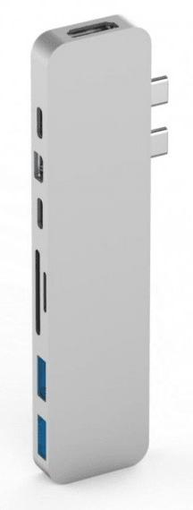 Hyper HyperDrive PRO USB-C Hub pro MacBook Pro - Stříbrný, HY-GN28D-SILVER