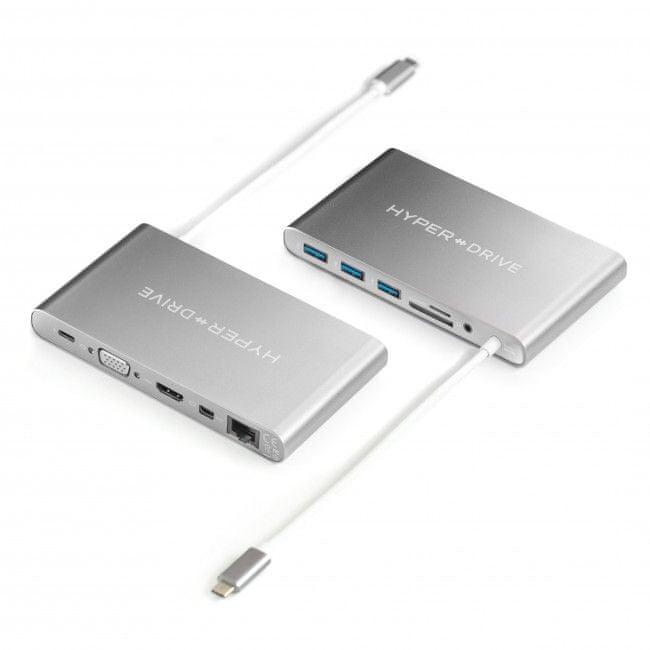 Hyper HyperDrive Ultimate USB-C Hub - Stříbrný, HY-GN30B-SILVER