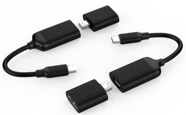 Hyper HyperDrive USB-C to 4K60Hz Mini DisplayPort & HDMI Adapter - černý, HY-HD40C-BLACK