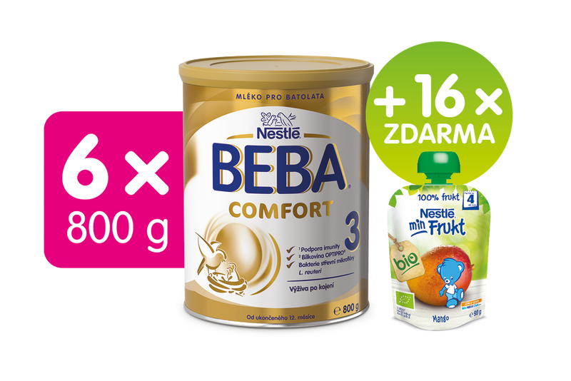 Nestlé BEBA Comfort 3 kojenecké mléko - 6x800g