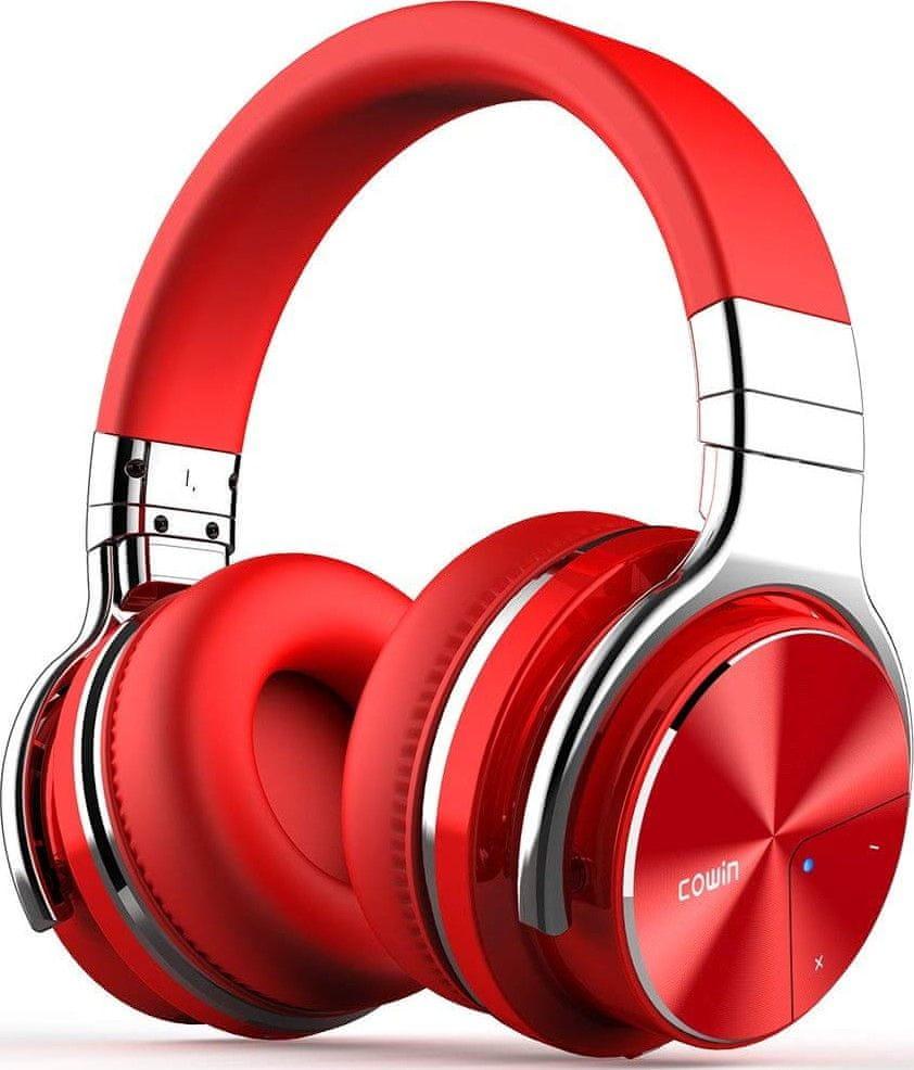 Cowin E7 PRO ANC bezdrátová sluchátka, červená
