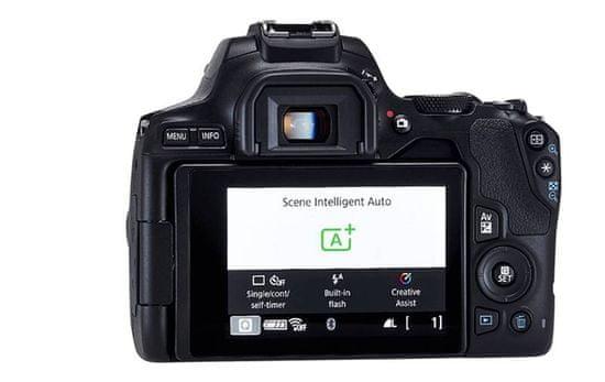 Canon fotoaparat EOS 250D + EF-S 18-55 IS STM, crni