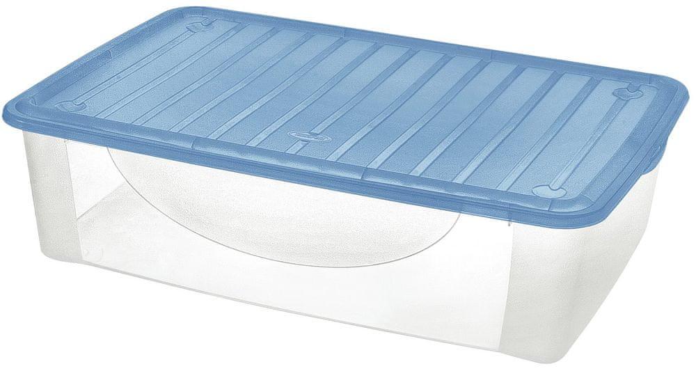Tontarelli DODO STOCK-BOX s víkem 36,5L transparent/světle modrá