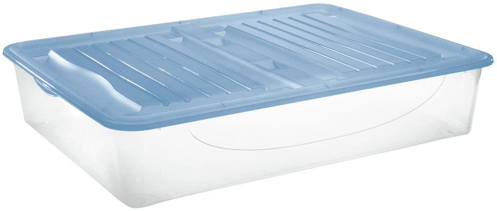 Tontarelli DODO STOCK-BOX s víkem 56,4L transparent/světle modrá