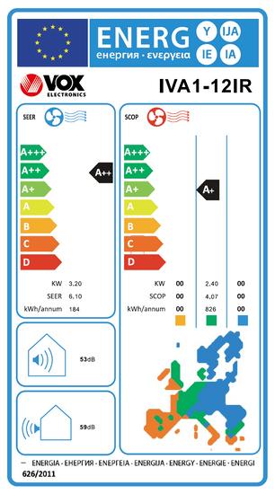 VOX electronics klima uređaj IVA1-12IR