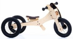 TryBike rower / trójkołowiec drewniany 4w1 brązowy