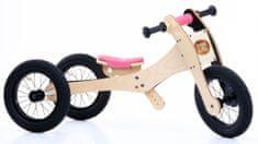 TryBike leseni poganjalec / tricikel 4v1, roza