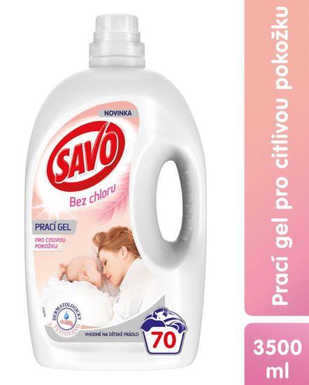 Savo Prací gél pre citlivú pokožku 70 praní