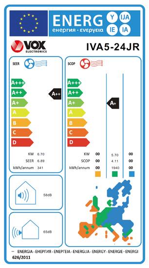VOX electronics klimatska naprava IVA5-24JR + montaža