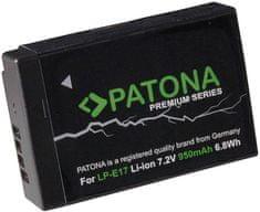 PATONA Baterie pro foto Canon LP-E17 950 mAh Li-Ion Premium PT1251