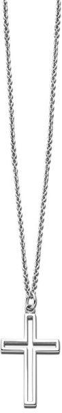 Lotus Style Ocelový náhrdelník s křížkem LS2007-1/1