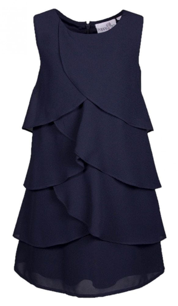 Happy Girls dívčí šaty 128 tmavě modrá