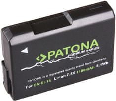 PATONA Baterie pro foto Nikon EN-EL14 1 100 mAh Li-Ion Premium PT1197