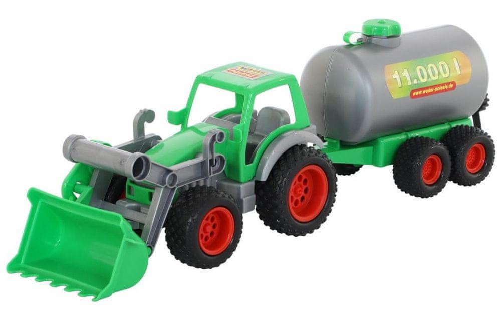Wader Traktor Farmář s lopatou a cisternou