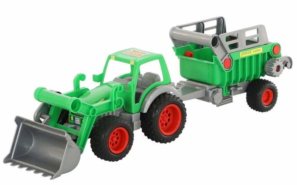 Wader Traktor Farmář s přívěsem a lžící
