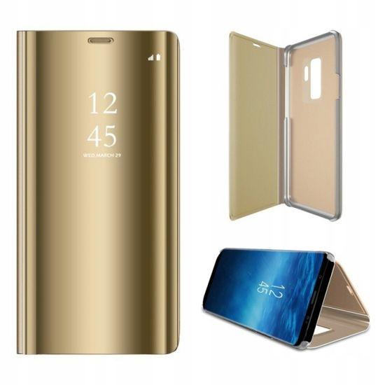 Onasi torbica Clear View za Samsung Galaxy A7 2018 A750, zlata
