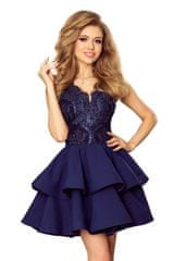 Numoco Ženska obleka 200-2, temno modra, L
