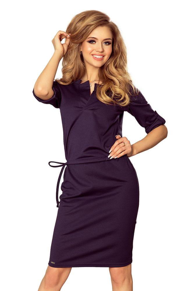 Numoco Dámské šaty 161-7, tmavě modrá, XL