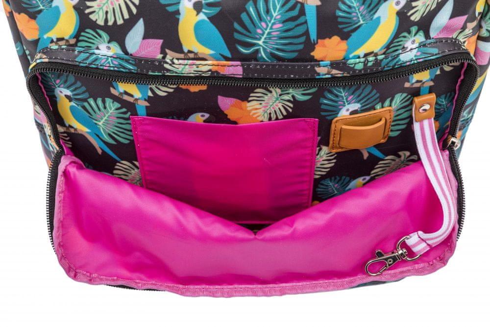 Pink Lining BATOH papoušek/černý