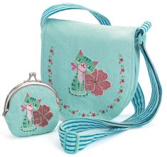 Djeco Set kabelka a peněženka Modrá kočička