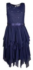 Happy Girls sukienka dziewczęca 86 ciemnoniebieska