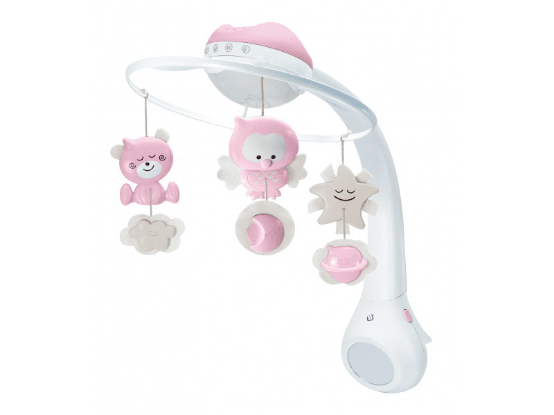 Infantino Hudební kolotoč s projekcí 3v1 růžový - rozbaleno