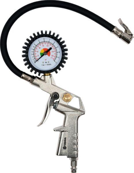Vorel Pistole na hustění pneu s manometrem 2,8-10 bar