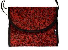 KiBi torba 3v1 Flora, Red velvet, rdeča