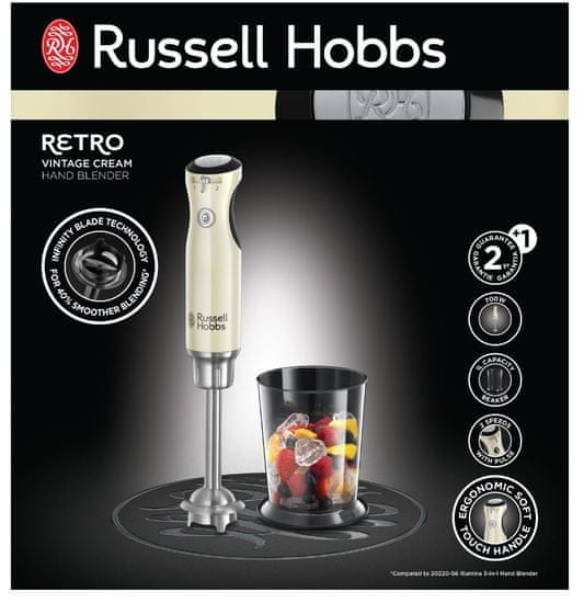 Russell Hobbs mikser ręczny 25232-56 Retro Cream