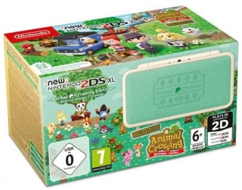 Nintendo New 2DS XL, Animal Cr.: New Leaf + Animal Cr.: Happy Home Designer + Kirby Battle Royale (NI3H97282)