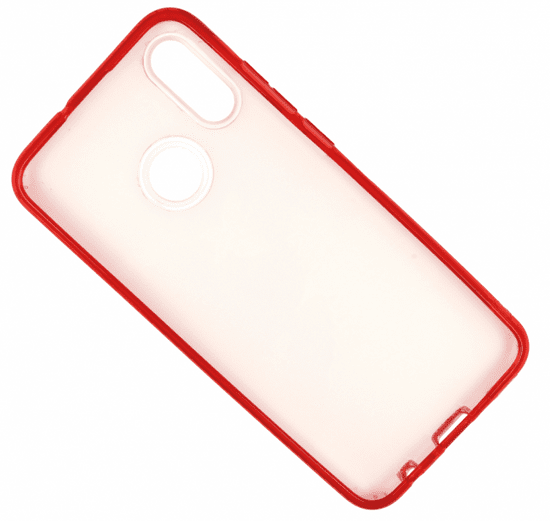 Ovitek za Huawei P Smart 2019, silikonski, rdeč z bleščicami