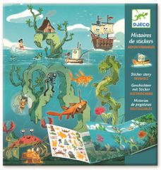 Djeco Samolepkové příběhy Dobrodružství pod mořem