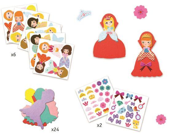 Djeco Samolepkový set Princezny