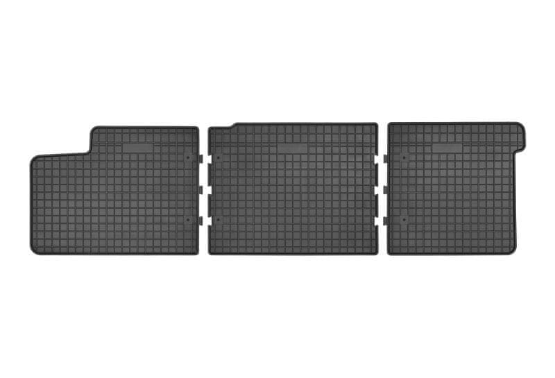 MAMMOOTH Koberce gumové, VW T5, T6 z let 2003-2015, sada 3 ks, černé