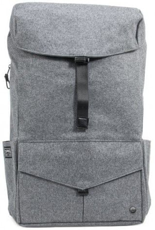 "PKG Cambridge Laptop Backpack 15"" PKG-CAMBRIDGE-WOOL, šedá vlna"