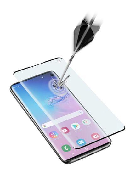 CellularLine zaščitno steklo za Samsung Galaxy S10, (Sonic senzor), črno