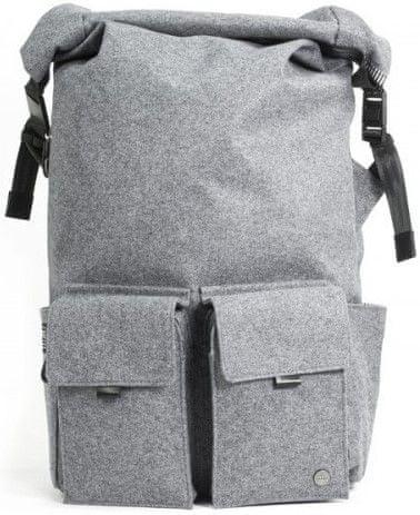 "PKG Concord Laptop Backpack 15"" PKG-CONCORD-WOOL, šedá vlna"