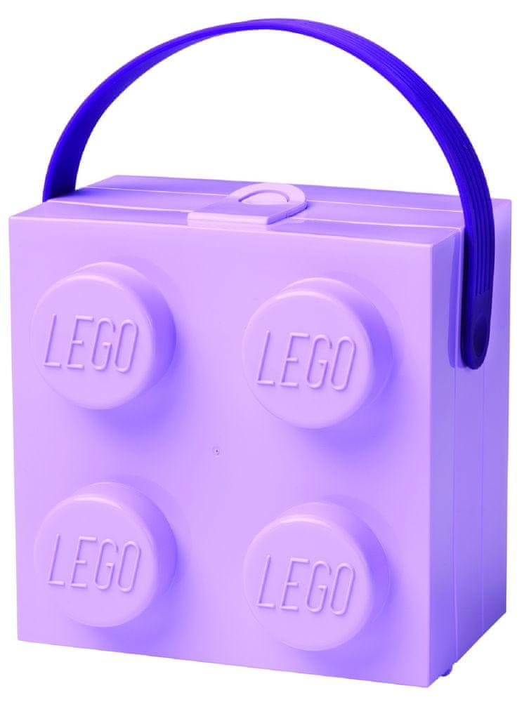 LEGO Box s rukojetí fialová