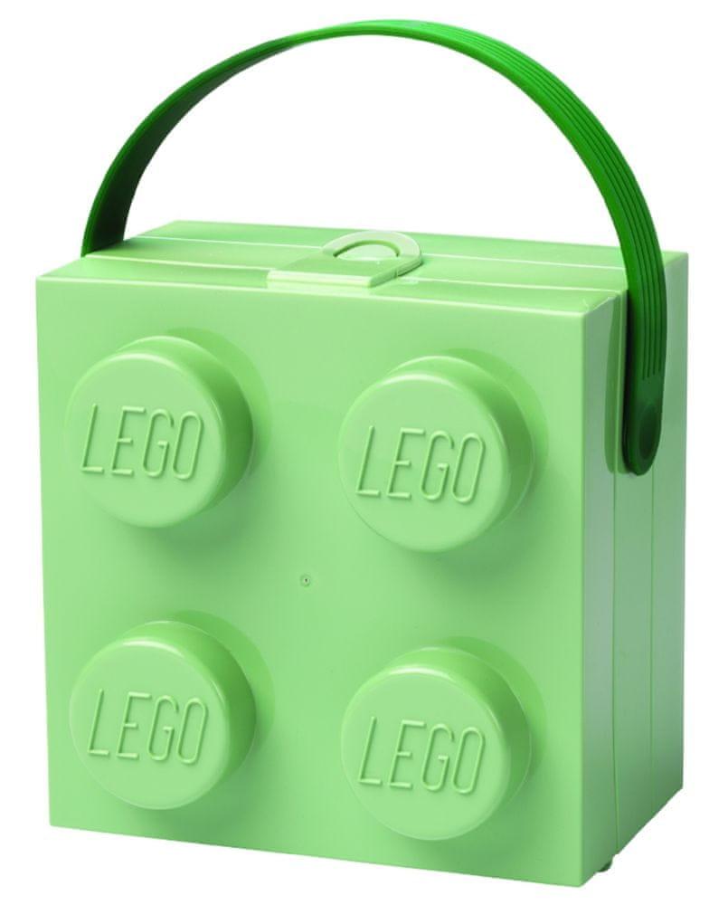 LEGO Box s rukojetí army zelená