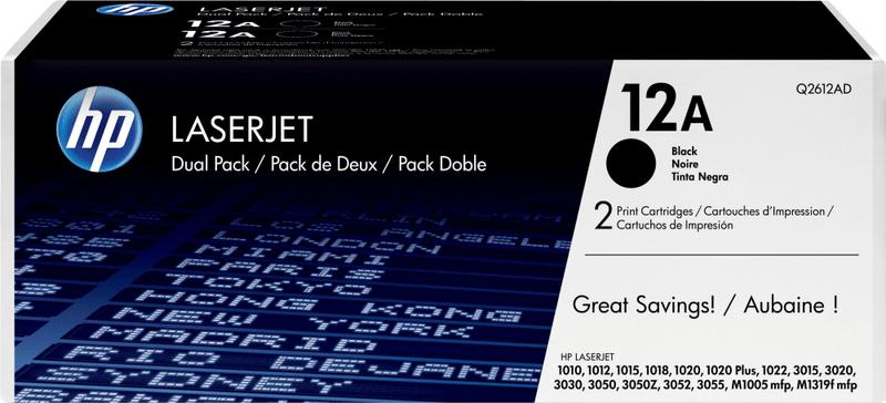 HP č.12A Dvojbalení černé originální tonerové kazety LaserJet (Q2612AD)