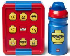 LEGO Iconic Classic svačinový set láhev a box - červená/modrá