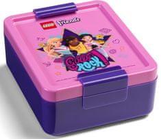 LEGO zestaw na przekąski Friends Girls Rock butelka i pojemnik - fioletowy