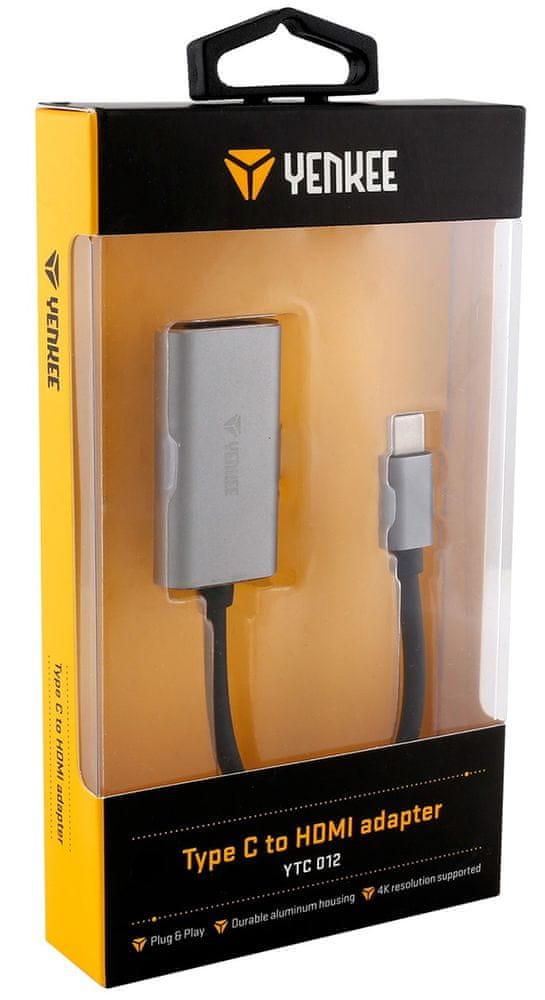 Yenkee USB C na HDMI adapter 4K, YTC 012 - zánovní