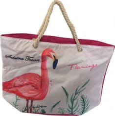 DUE ESSE Plážová taška Plameňák, červená