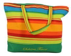 DUE ESSE Plážová taška s barevnými pruhy E