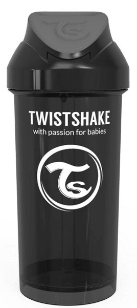 Twistshake Láhev s brčkem 360 ml 12+m Černá
