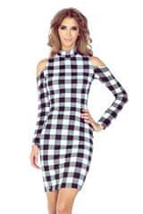 Morimia Ženska obleka 008-2, črno-bela, XXL